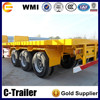 Yuncheng Chengshida brand high quality tri axles 40ft new used container trailers for sale