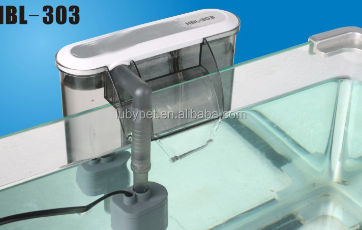 super aquatic Super Slim Shape Hang On aquarium filter for fish tank, with filter carton plate HBL Series