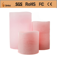 pink romantic decoration flameless birthday candles 3 pcs set