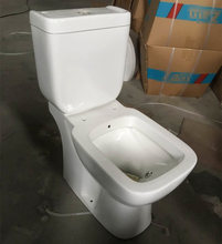 Washdown ceramic two piece combustion toilet