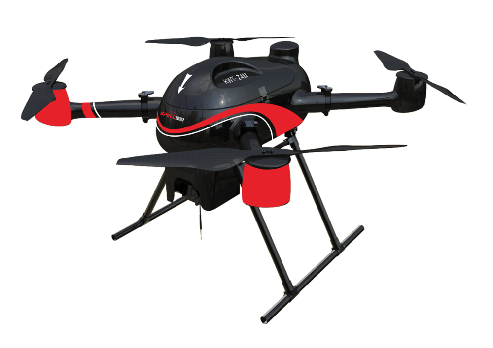 Industrial foldable carbon fiber Quadcopter Drone can fly 45minutes