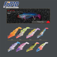 FJORD 75mm 17g new design unique fishing lure sinking plastic soft vibe hook lures shad soft bait