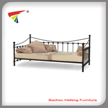 Metal bed furniture wooden slats folding futon day bed