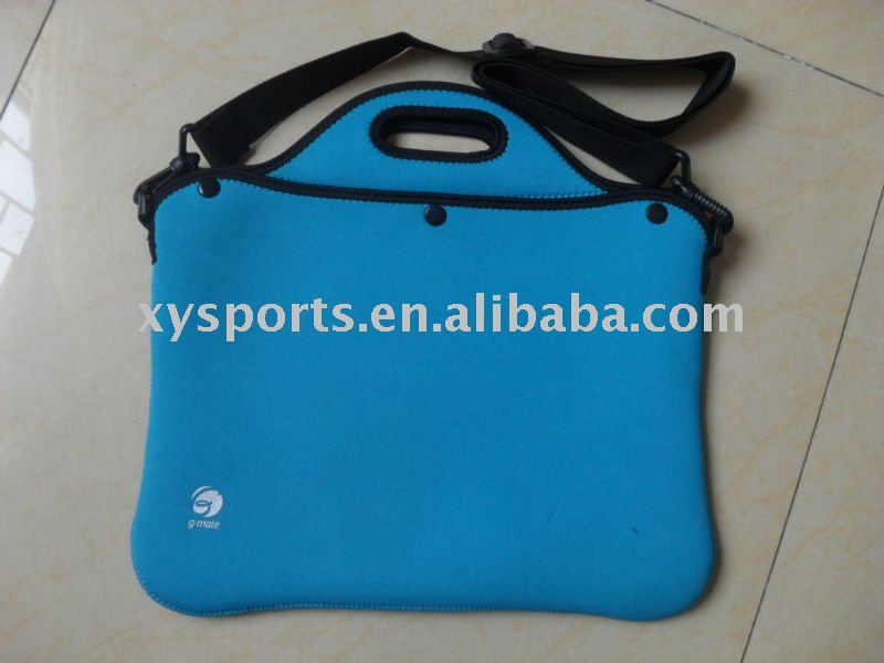 17'' and 15'' soft neoprene waterproof laptop bag with shoulder strap