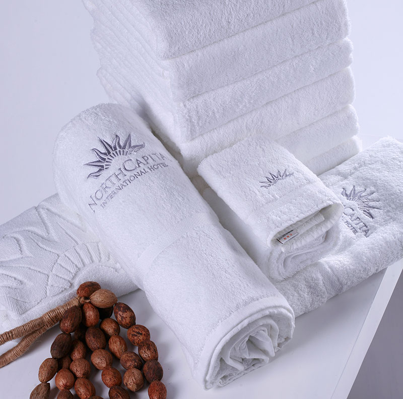 100% Cotton Five Star Luxury Embroidered White Hotel Large Bath <strong>Towel</strong> For Hilton