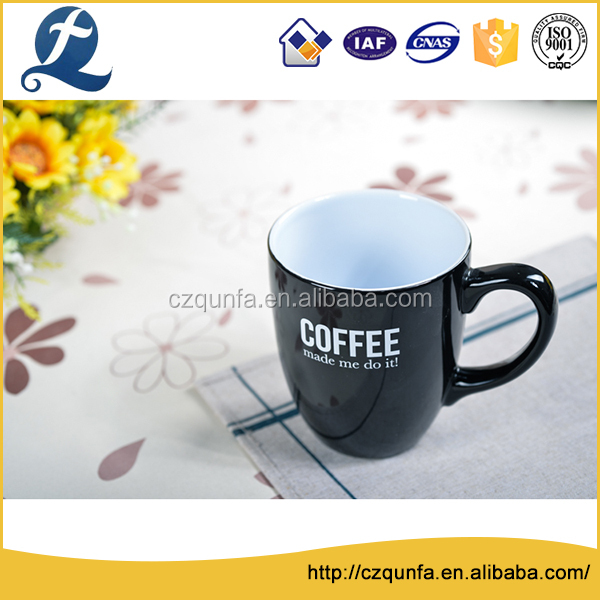 Advertising customized stone two tone mug cup for coffee and tea