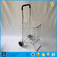 Portable walking folding shopping cart, caddy shopping trolley cart of Guangzhou factory