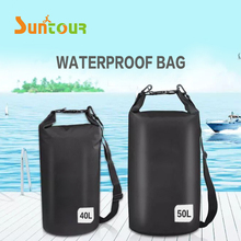 SUNTOUR Outdoor Waterproof Dry Bag 10L 20L 30 L 40L 50L 500D PVC Camping Skiing Kayaking Backpack Comfortable Shoulder Straps