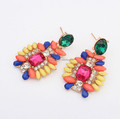 Bohemian Jewelry statement earring colorful sweet Resin Crystal stud earrings