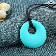 Hot Selling Jewelry Cheap Small Circle Baby Colorful Silicone Teething Necklace