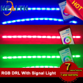 High Quality Newest LED RGB DRL with Amber Turn Signal Light Color Changing DRL