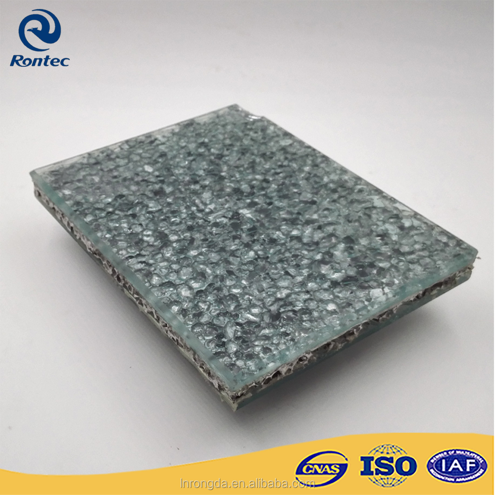 Soundproofing decorative glass composite aluminum foam panels for indoor or outdoor