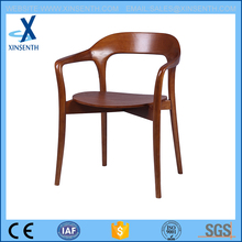 armrest wooden dining chair for homeuse