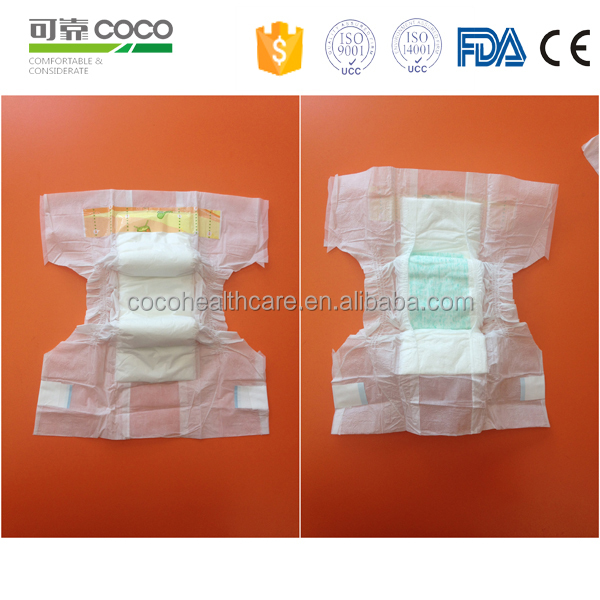 Soft Smart Disposable Baby diaper Cartoon For Package