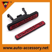 Plastic ABS glossy black new quattro car emblem for rs front grills