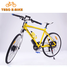 High configuration light weight ladies electric road bike with water bottle