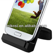 Universal dock for galaxy s4 mini with compatible case and adjustable connector in Gift packing