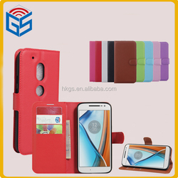 Chinese Merchandise Book Stand Pouch Filp Cover Case For Motorola For Moto G4 Play XT1607 XT1609