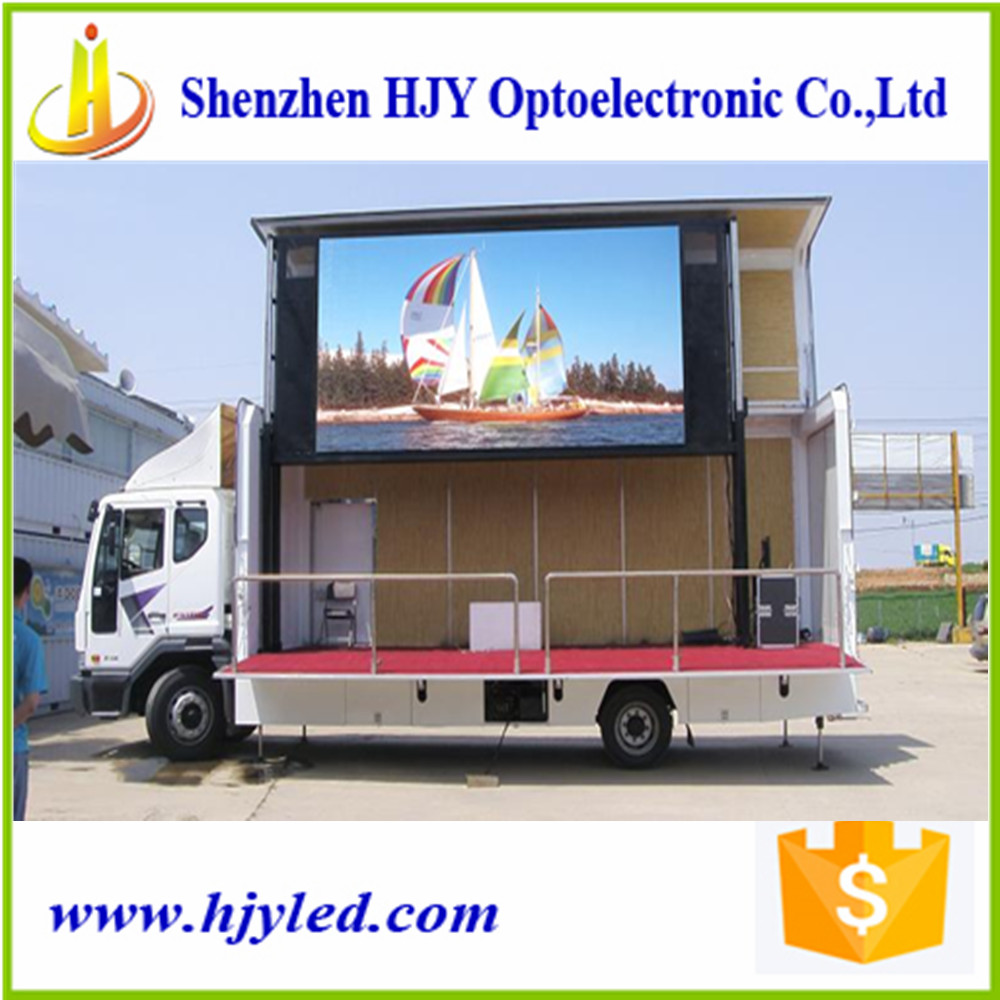 2017 on sale waterproof outdoor P8 led board led sign truck/trailer led display digital screen for sale