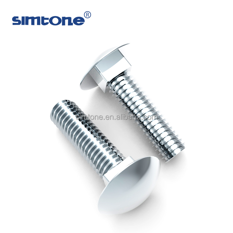 Half round head carriage bolt DIN603 stainless steel M5 M6 M8 <strong>M10</strong> length less than 50mm