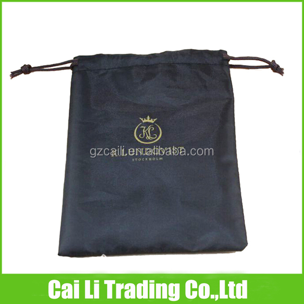 gift packing offset printed polyester drawstring pouch