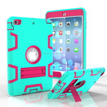 For iPad Mini Case Cover,For iPad Mini Kickstand Case,TPU+PC Tire Pattern Hybrid Case For iPad Mini