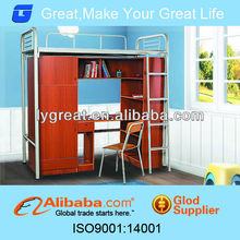 High quality metal folding KD stylish wooden double bed