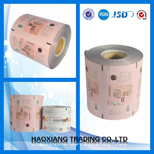 PET ALU PE food grade laminating plastic packing film roll