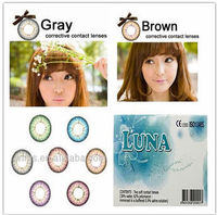 LUNA G-322 soft color contact lenses tri contact lens with power