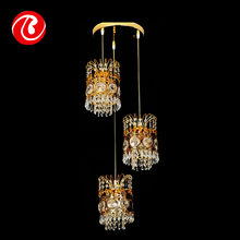 New style unique antique crystal hanging rattan pendant lamp