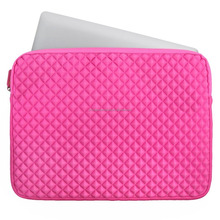 15~ 15.6 inch Pink Neoprene Diamond With Soft Lining Protector Laptop Case Sleeve Bag