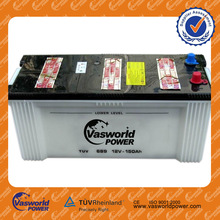 Hot sale rate car battery 12v 150ah dry charged auto battery dry battery