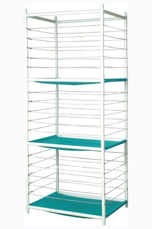 S6211 3-Tier metal ball storage rack with rubber band guardrail