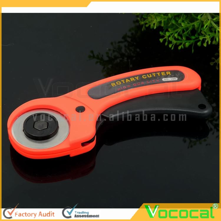 45mm Diameter Rotary Blade Handle Fabric Cloth Rotary Cutter Cutting for Quilting Starter Specialist Orange