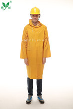 waterproof, heavy duty long pvc raincoat for men