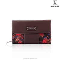 alibaba china latest flowered clutch bags oversized leather clutch wallet for men