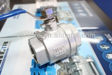 Stainless Steel 2PC Ball Valve Threaded Type Locking Device, Full Bore , RPTFE, SOLID BALL, 1000WOG, 2 inch size