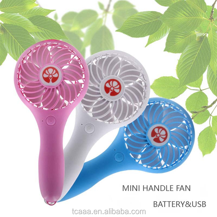 2017 USB Rechargeable LED handle fan with battery for summer