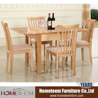 Rectangle hideaway dining table and chair set