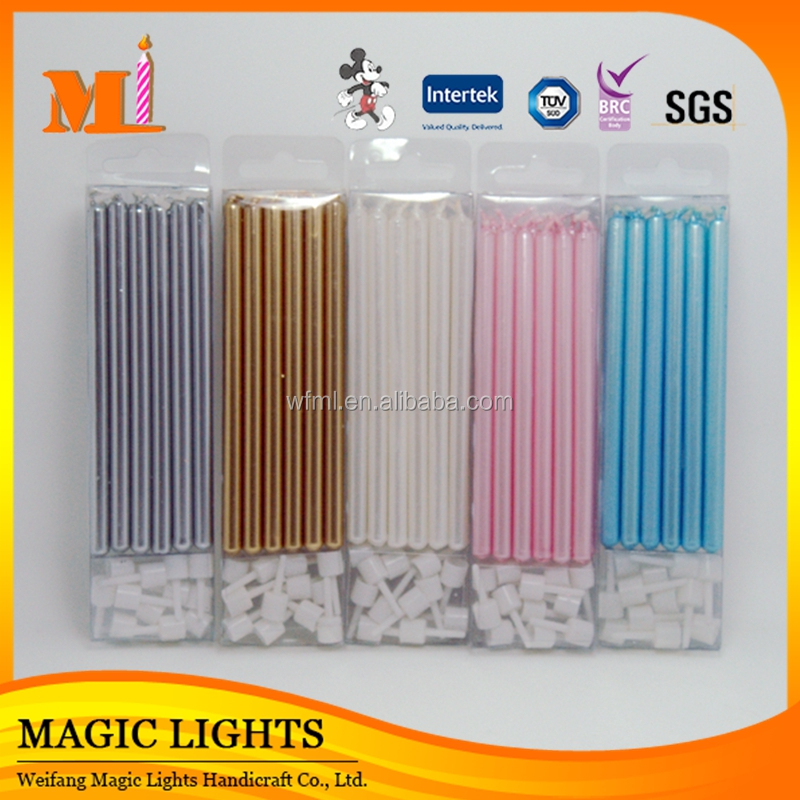 Stylish Colorful Thin Pillar Taper Candles