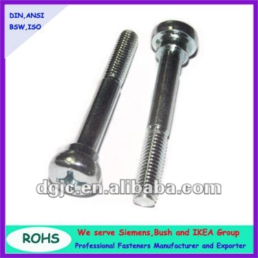 dongguan hardware Stainless steel half thread cross head machine screw with shoulder
