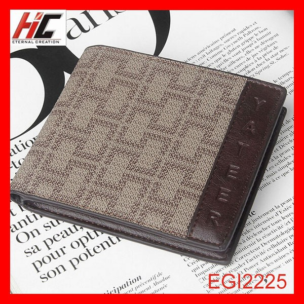 New model men genuine leather Short plaid wallet fashion horizontal Casual teens wallet