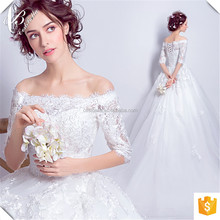 2015 Princess Luxury White Ball Gown Wedding Dress Cap Sleeve Long Tail