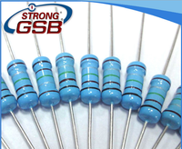 Provide all series high quality 1/16w 1/8w 1/6w 1/4w 1/2w 1w 2w 3w carbon film resistors with ROHS