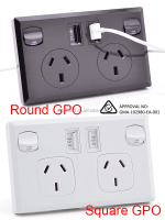 New Style SAA Approved Certificate Lan Wall Socket With 2 USB Ports and Switches