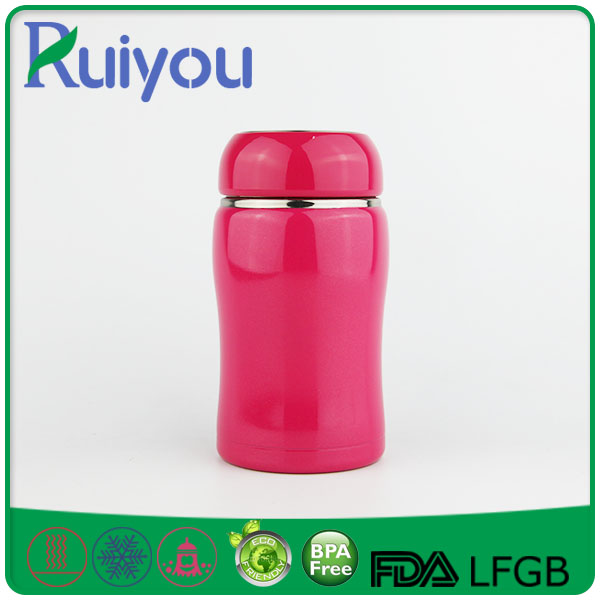 Latest design 350ml double wall vacuum flask with strap