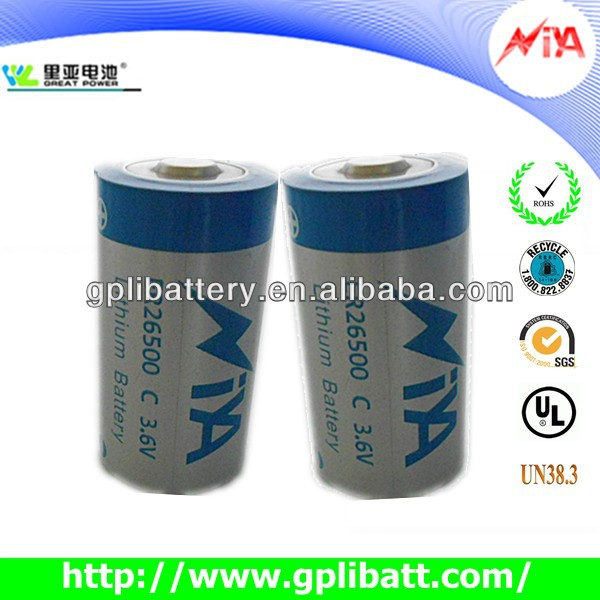 3.6v c size super heavy duty battery er26500