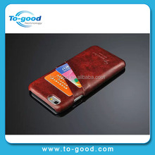 2015 Luxury Newly Wallet Design Oil Wax PU Leather Hard Mobile Phone Case For Apple iPhone 6(Wine Red)