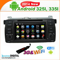 744GDA pure android car GPS high digital car radio car dvd gps for BMW M3 E46