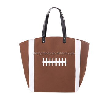 Baseball Canvas Cotton Beach Totes Sports Shoulder Bag